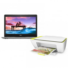 Dell Inspiron 14-3480 Intel CDC 4205U 14.0 inch HD Laptop with Genuine Windows 10 With HP DeskJet Ink Advantage 2135 All-in-One Color Printer