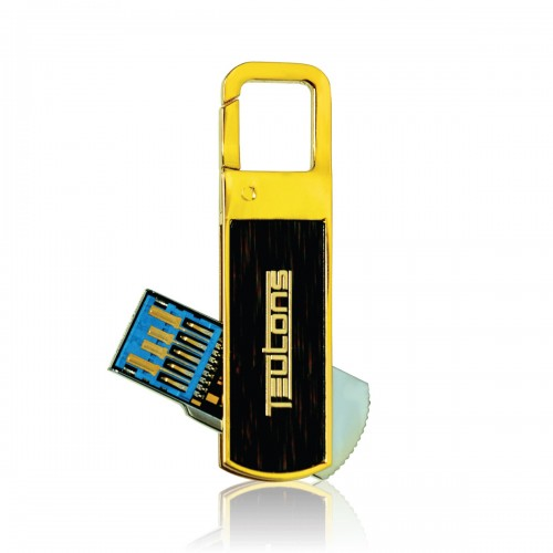 TEUTONS Solid Gold Plus 64GB USB 3.1 Gen-1 Flash Drive