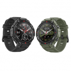 Amazfit T-Rex Smart Watch Black & Army Green