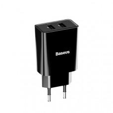 Baseus Speed Mini Dual U Charger 10.5W(EU) Black