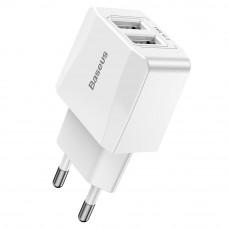 Baseus Mini Dual-U Charger (EU) 2.1A White