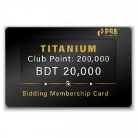 PQS Titanium Bidding Membership Card