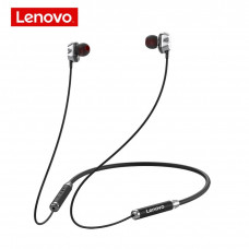 Lenovo HE08 Wireless Neckband In-Ear Headphones – Black
