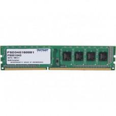 Patriot 4GB DDR3 1600 Bus Desktop Ram