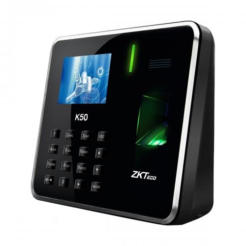 ZKTeco K50A Fingerprint Time Attendance & Access Control Terminal with Adapter