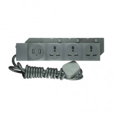 Energypac 3 Points + 2 USB Extension Socket