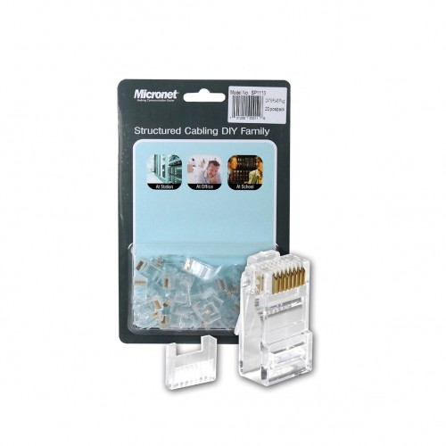 Micronet Cat 6 RJ45 Cable Connector-Pack Of 20 Pieces