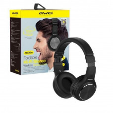 AWEI A600BL Foldable Hi-Fi Stereo Wireless Headphones with TF Card Access Port