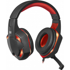 Defender Gaming headset Warhead G-370 black+red, cable 2 m