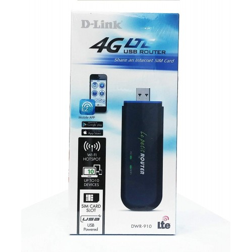 D-link DWR-910 4G LTE Wireless USB Router
