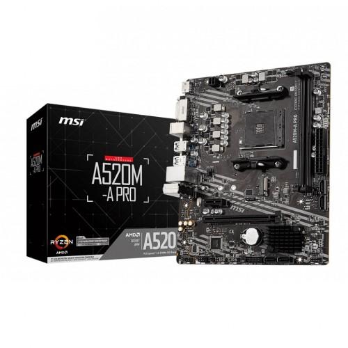 MSI A520M-A Pro AM4 AMD Micro-ATX Motherboard
