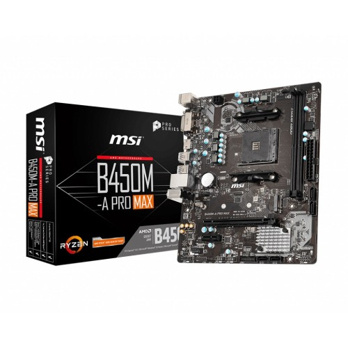 MSI B450M MORTAR MAX Military Style AMD M-ATX Gaming Motherboard