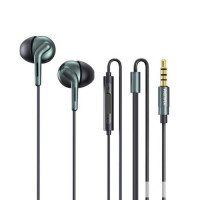 Remax RM-595 Double Moving Coil 3.5mm Earphone Black