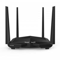 Tenda AC10 AC1200 1200Mbps Dual Band 4 Anteena Gigabit WiFi Router Balck