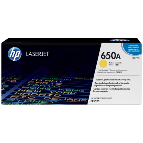 HP 650A Yellow Original LaserJet Toner